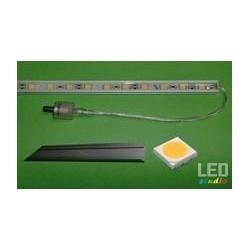 LED hliníková lišta 13W, biela, IP68